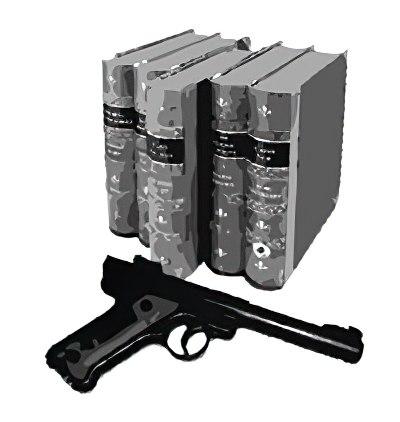 books and gun