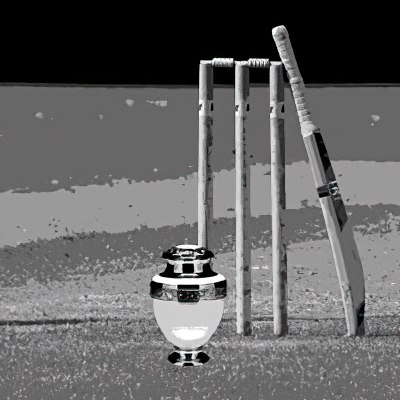 cricket stumps and urn